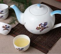 5头苹果风筝骨质瓷茶具
