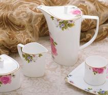 15头贵妃骨质瓷咖啡具