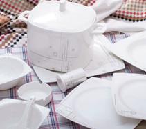 24头纵横骨质瓷中餐具