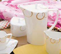 15头金色梦幻骨质瓷咖啡具