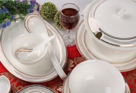 50头多瑙河骨质瓷餐具