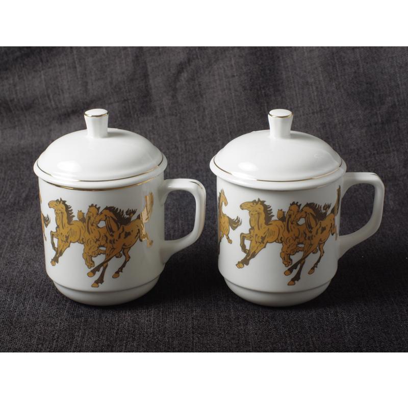 骨质瓷马克杯/骨质瓷会议杯/手绘骨质瓷杯