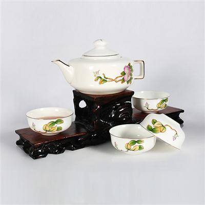 5头骨质瓷手绘小茶具