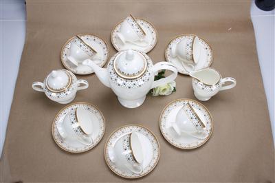 15头骨质瓷 娇姿金草咖啡具
