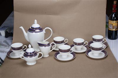 15头骨质瓷咖啡具 蓝色帝国