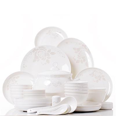 48头电光金骨质瓷餐具,骨质瓷厂家批发